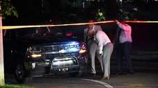 A 33-year-old man was struck and killed by
