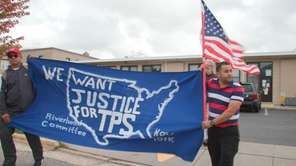 A couple hundred people marched in Riverhead on