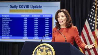 Gov. Kathy Hochul gives an update on the