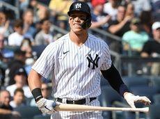 New York Yankees right fielder Aaron Judge draws