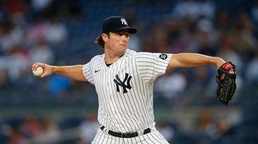 New York Yankees starting pitcher Gerrit Cole (45)