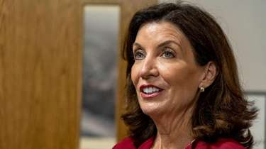 Gov. Kathy Hochul speaks on Sept. 23 in