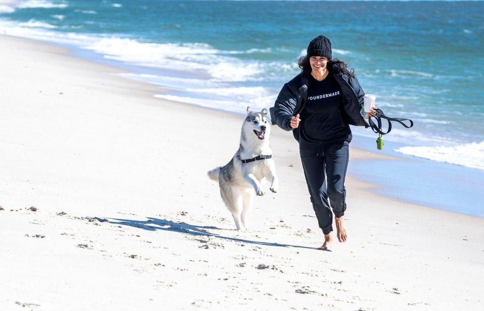 Meghan Asha of Westhampton Beach and her dog