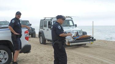 Police respond to Amagansett's Truck Beach in June