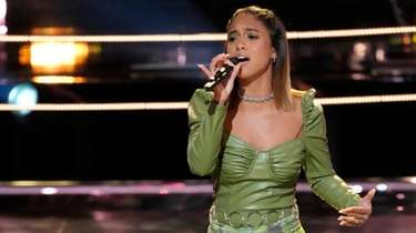 Copiague's Kaitlyn Velez performs during Monday's Battle Round