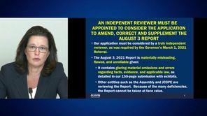 Former Governor Andrew Cuomo's lawyer Rita Glavin said