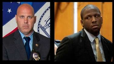 New York City Police Dt. Brian Simonsen, left,
