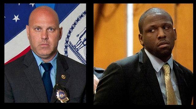 NYPD Det. Brian Simonsen, left, and Christopher Ransom.