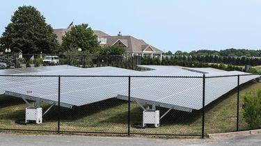 Solar panels at Long Island National Golf Club