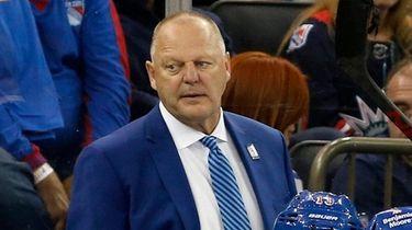 Head coach Gerard Gallant of the Rangers looks