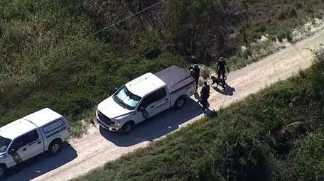 The FBI said apparent human remains were found