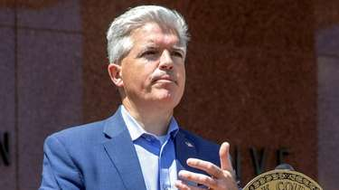 Suffolk County Executive Steve Bellone has tested postive