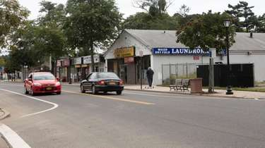 Neighborhood Road, Mastic Beach downtown's main thoroughfare, in