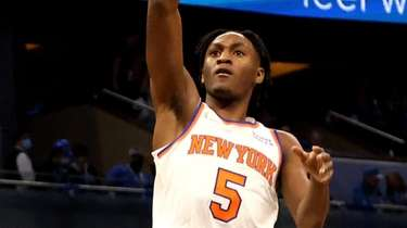 Immanuel Quickley #5 of the New York Knicks