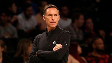 Head coach Steve Nash of the Nets looks