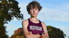 Amokrane Aouchiche, Mepham cross country runner, poses for