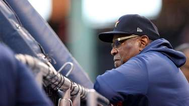 Manager Dusty Baker of the Houston Astros stands