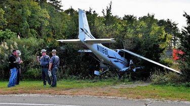A pilot attempting to make an emergency landing
