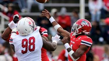 Stony Brook QB Tyquell Fields goes to the