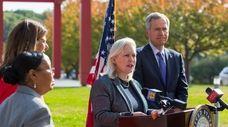 Sen. Kirsten Gillibrand (D-N.Y.) announces her push to