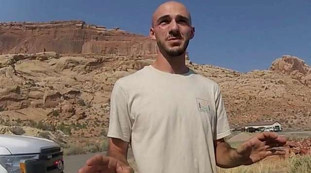 Brian Laundrie speaks with Moab City, Utah, police
