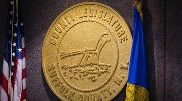 The Suffolk County Legislature medallion in Hauppauge in