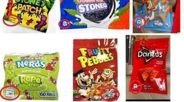 Real examples of cannabis product packaging deceptively designed