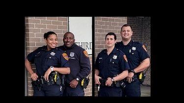 Suffolk Third Precinct officers (left to right) Officer