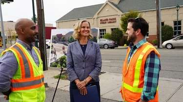 Nassau County Executive Laura Curran is joined by