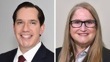 Republican Manuel Esteban Sr., left, and Democrat Susan