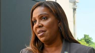 State Attorney General Letitia James outside the Touro