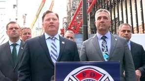 FDNY Firefighters Association president,Andrew Ansbro, spoke out against