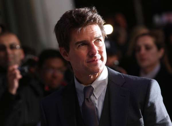 Tom Cruise arrives for the British premiere of