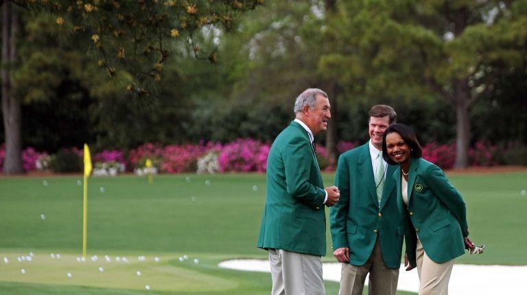 Condoleezza Rice, right, former Secretary of State and