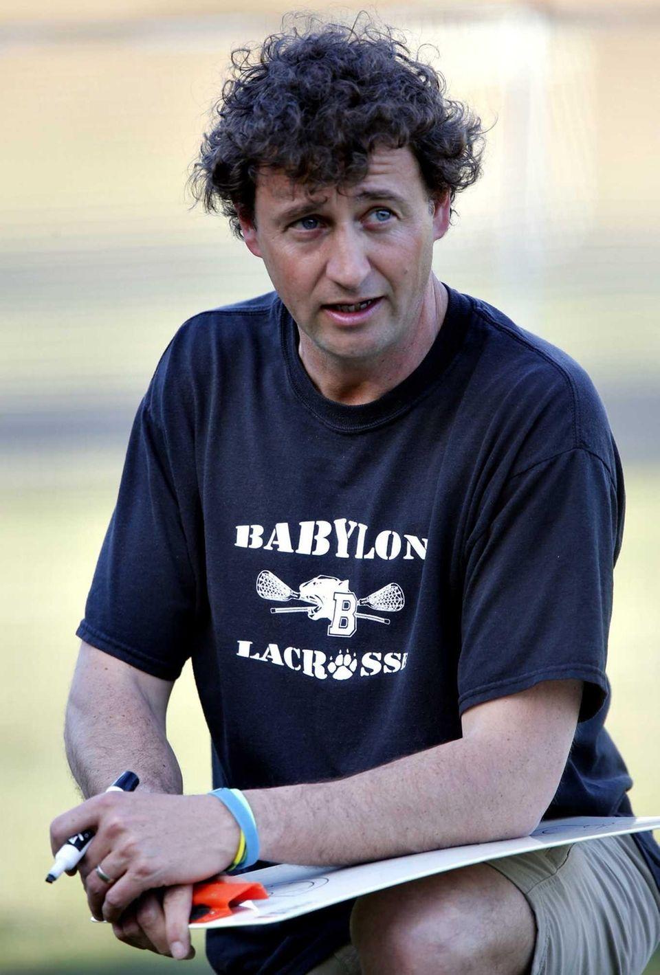 Babylon girls lacrosse head coach Timothy Harrison speaks
