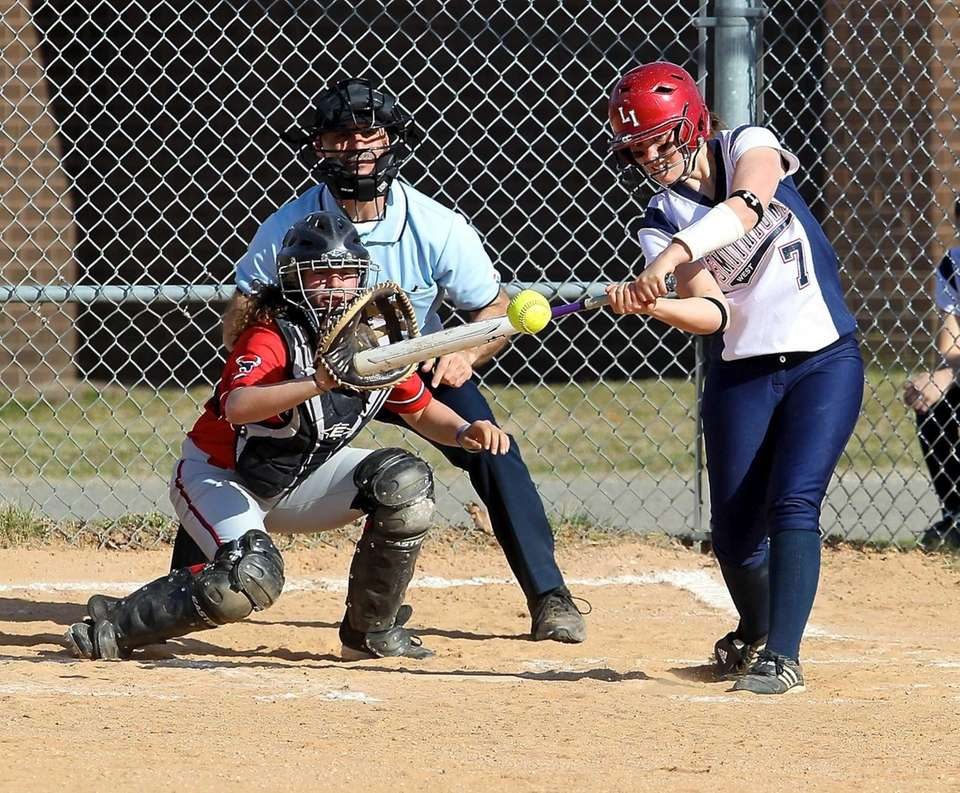 Smithtown West's Carissa Kinsella tries for a hit