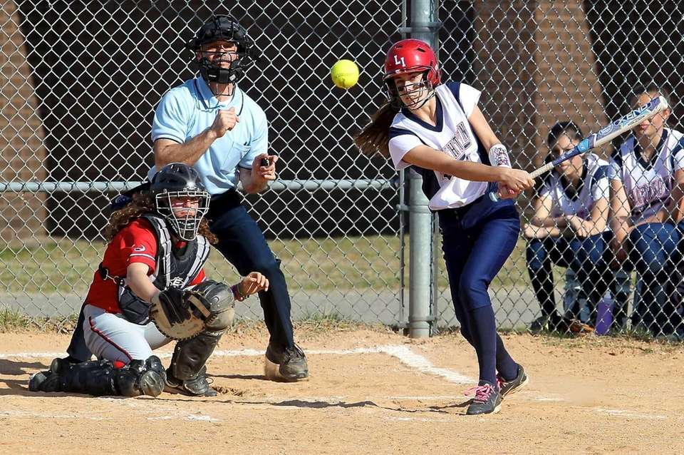 Smithtown West's Melissa Koster watches her single go