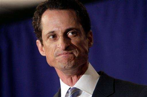 Then-U.S. Rep. Anthony Weiner (D-N.Y.) confessed that he
