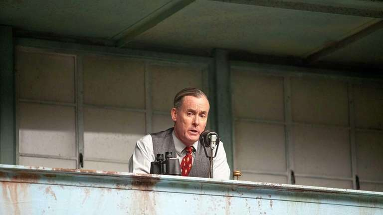 John C. McGinley plays Brooklyn Dodgers announcer Red