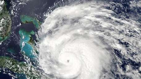 A radar image of Irene – the first