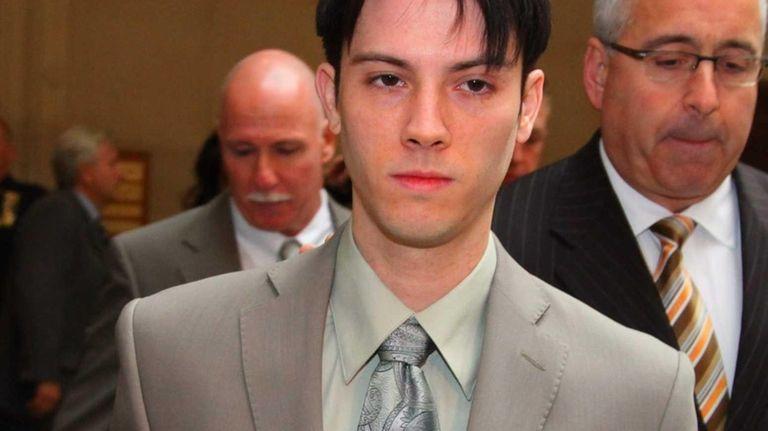 James Ryan, 26, of Oakdale, leaves court in