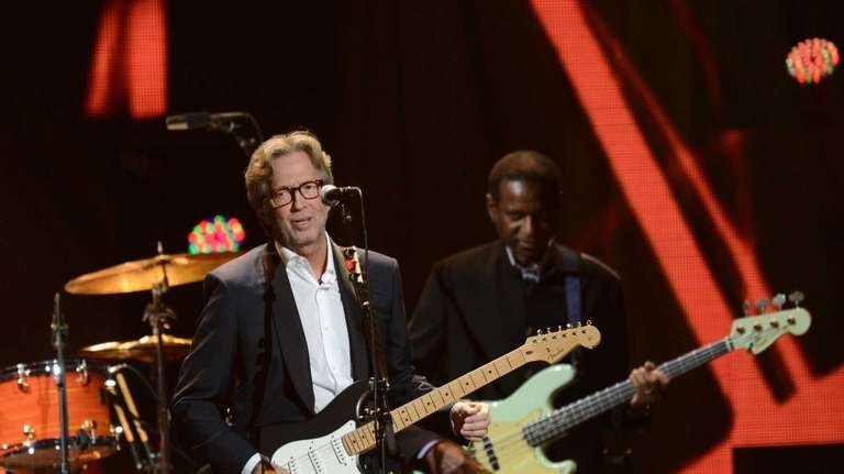 Eric Clapton performs during
