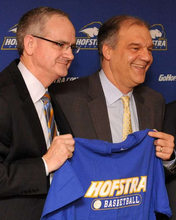 Newly-named Hofstra University men's basketball head coach Joe