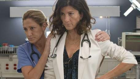 Edie Falco as Jackie Peyton and Eve Best