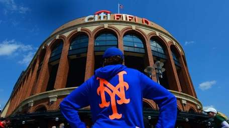 Mets fans at Citi Field for Opening Day
