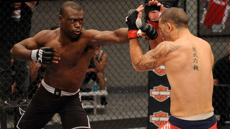 Uriah Hall, left, defeated Dylan Andrews in the