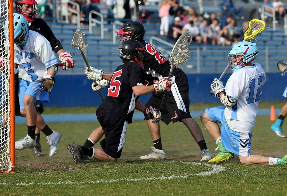 Rocky Point's Michael Bellissimo shoots and scores from
