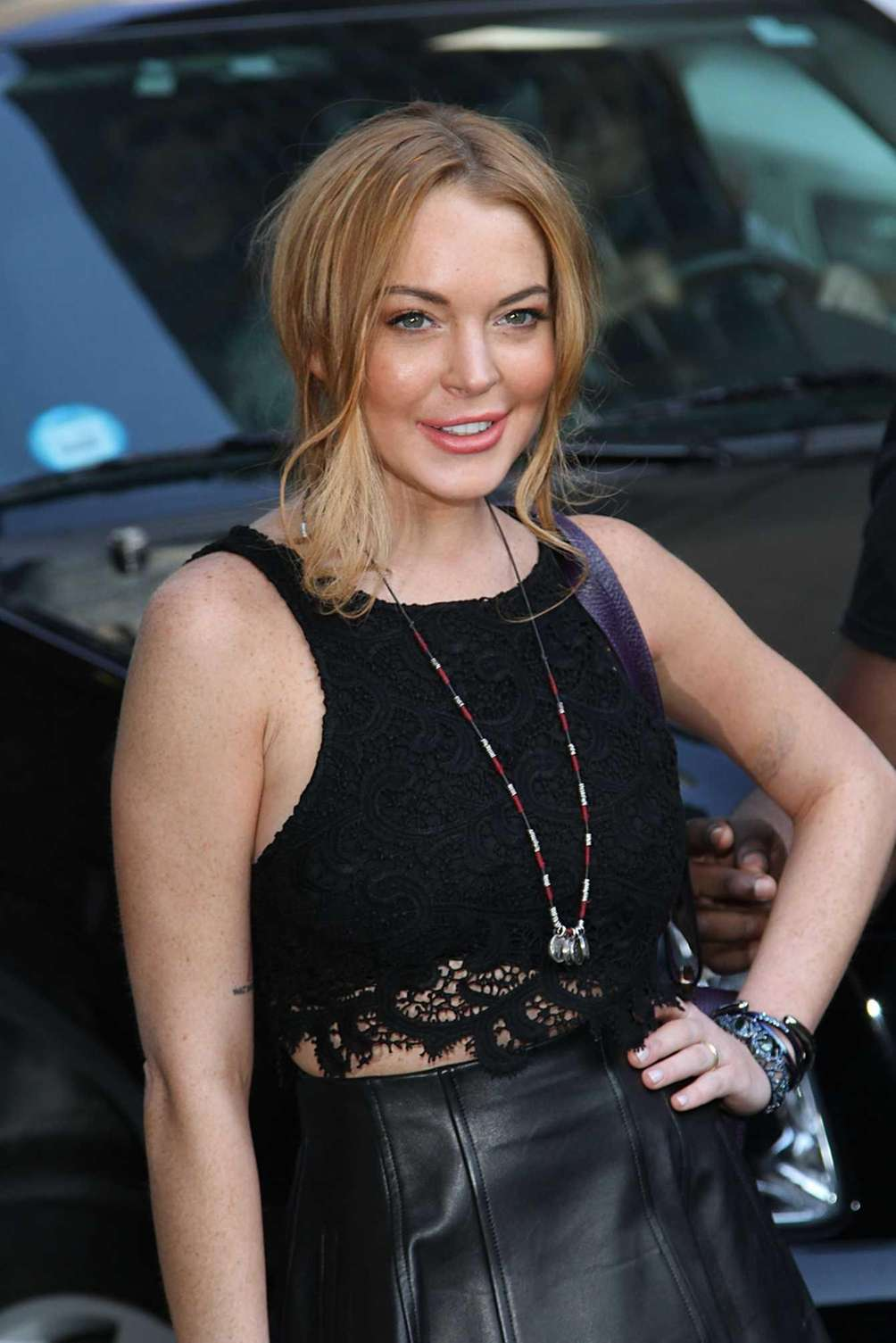 Lindsay Lohan departs the Ed Sullivan Theater after