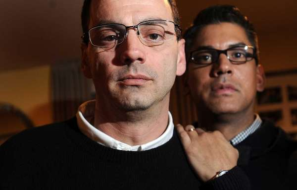 Nicholas Coppola, left, and his husband David Crespo