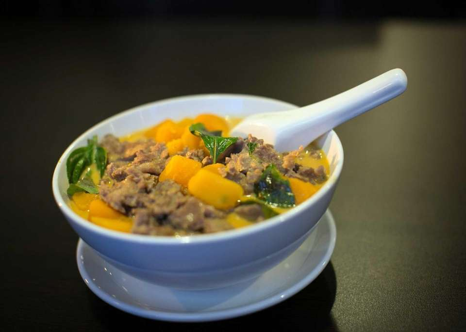 Panang curry at Thai Coconut is made with